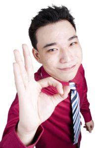 asian businessman oks